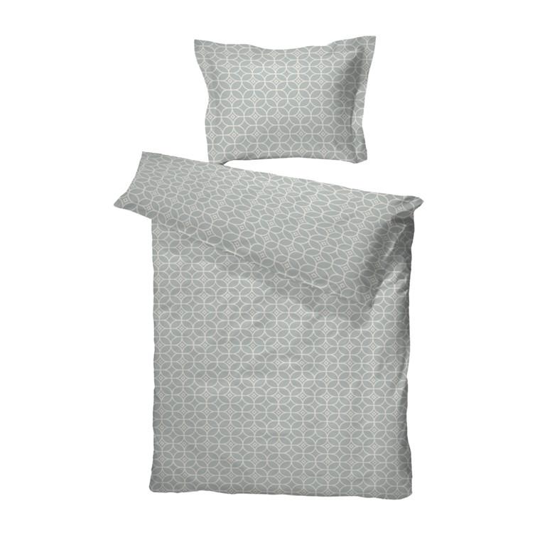Vilhelm grå bomuldssatin sengetøj 140x200