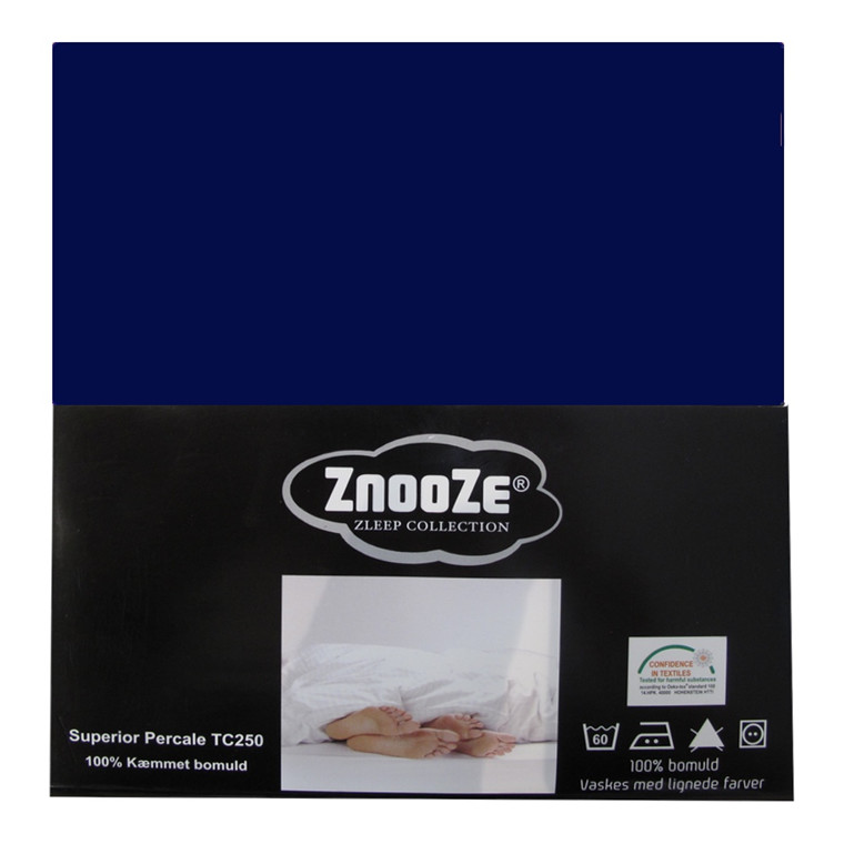 Znooze Superior facon lagen 140x200x25 mørk blå