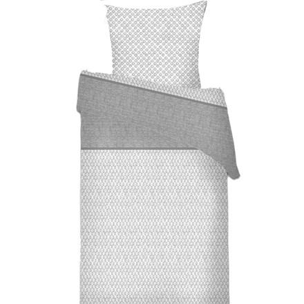 Gary grå ægyptisk bomulds sengetøj til dobbeltdyne 240x220