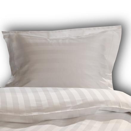 Sopire Bambus sengetøj Hotelstrib hvid 140x200