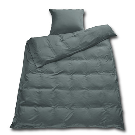 Sopire bambus sengetøj mørk grå 140x200