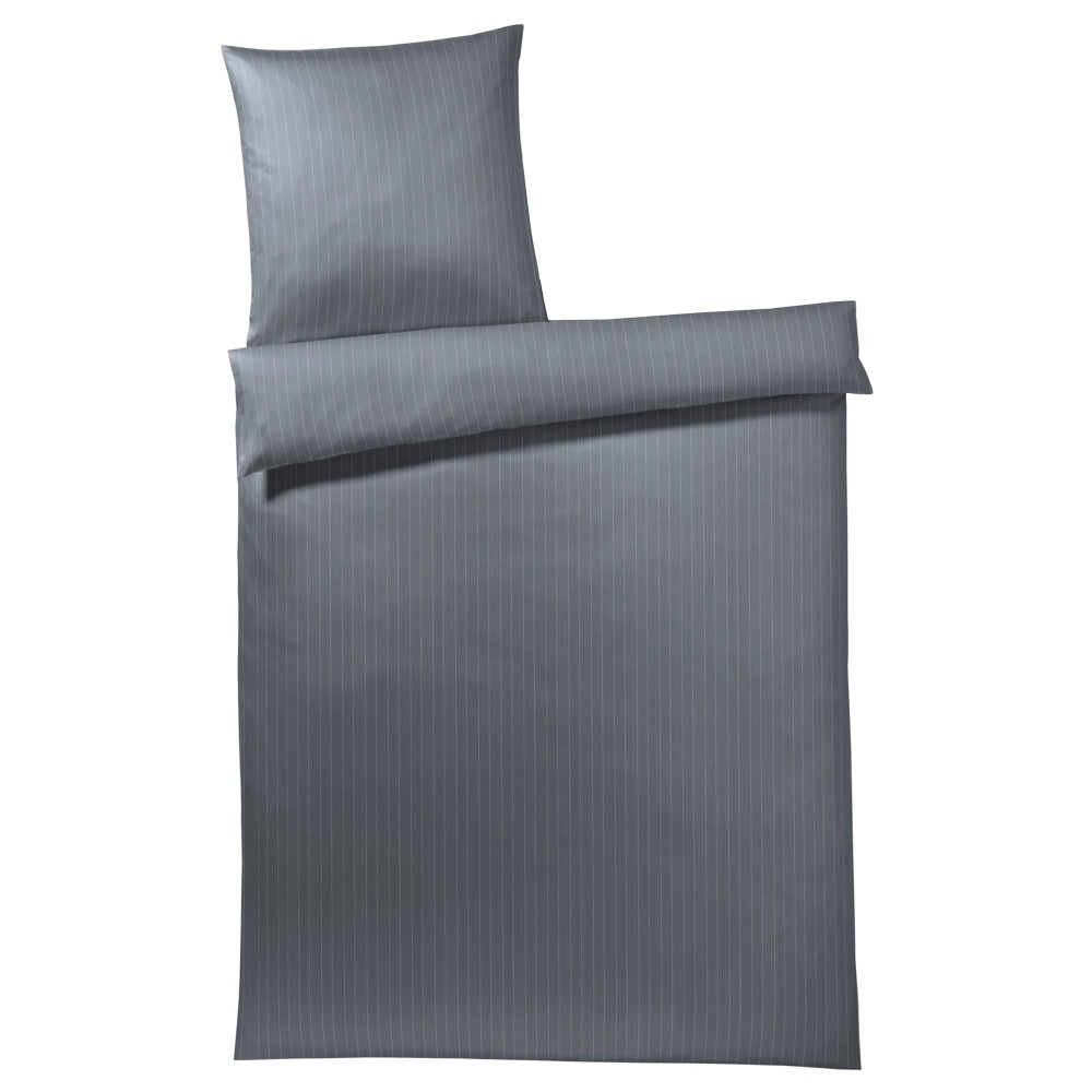 gråt sengetøj JOOP Pin stripes grå sengetøj 135x200 gråt sengetøj