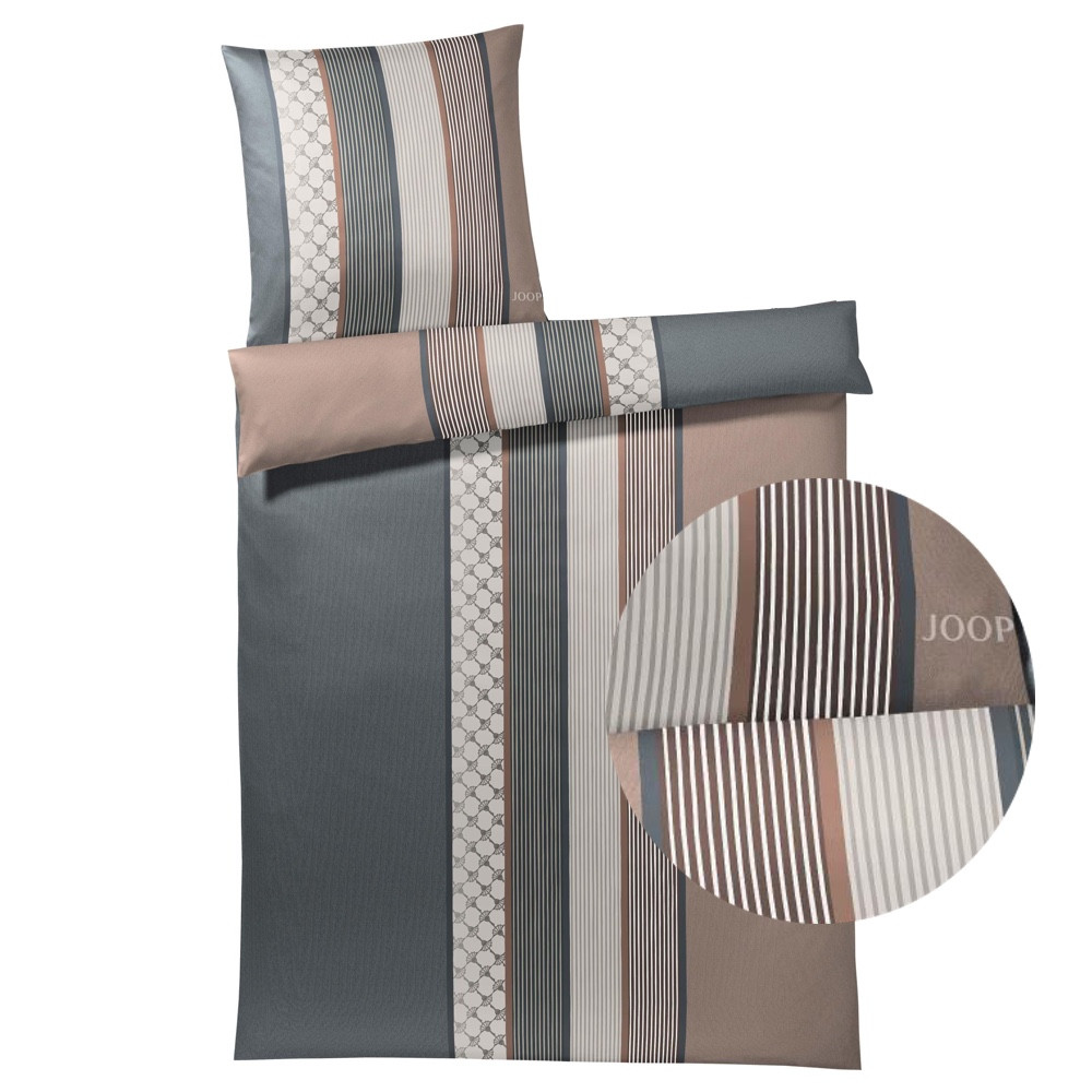 joop sengetøj JOOP Sengetøj Cornflower Stripe ler/grå 135x200 joop sengetøj