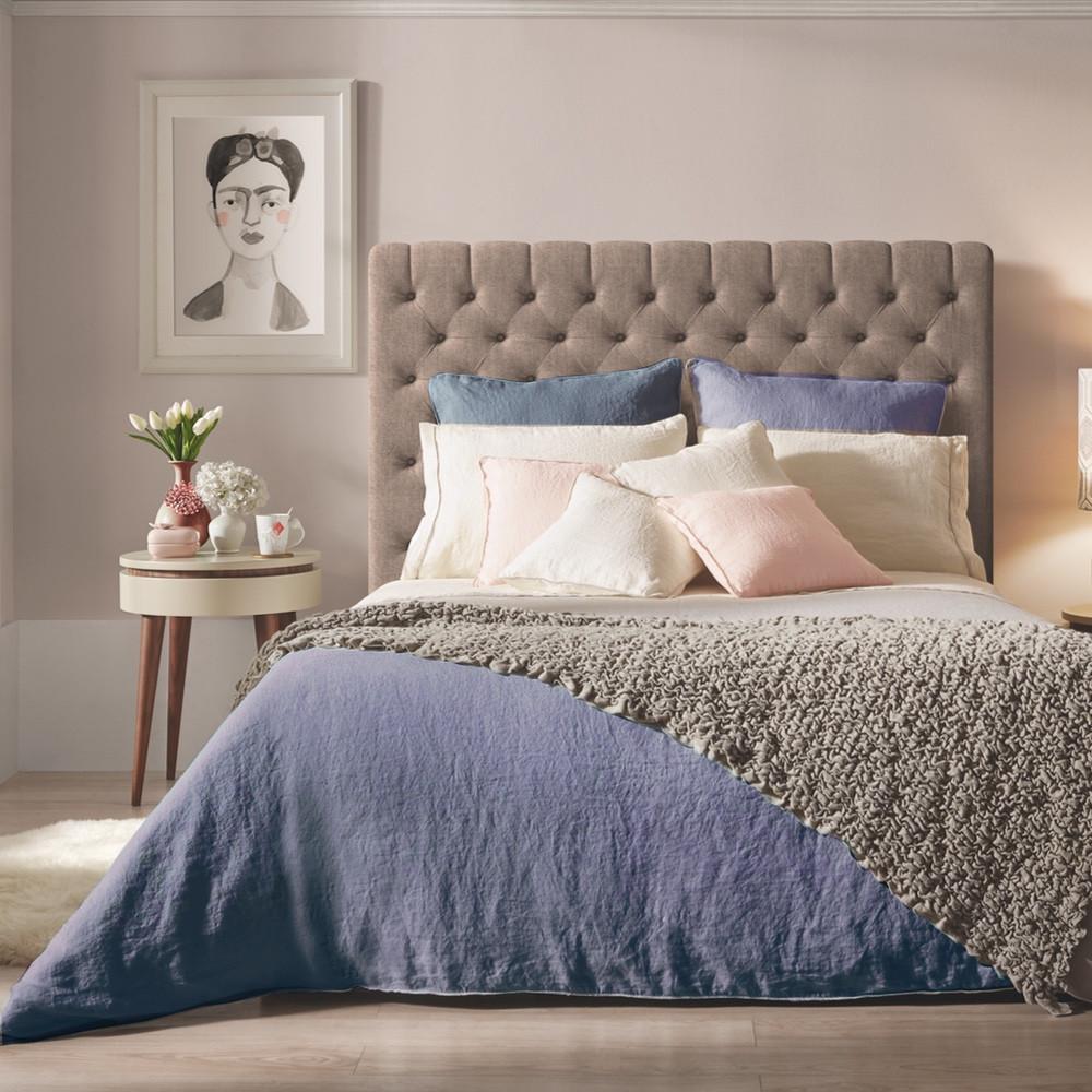hør sengetøj Sopire hør sengetøj Villa Nova blå 140x220 hør sengetøj