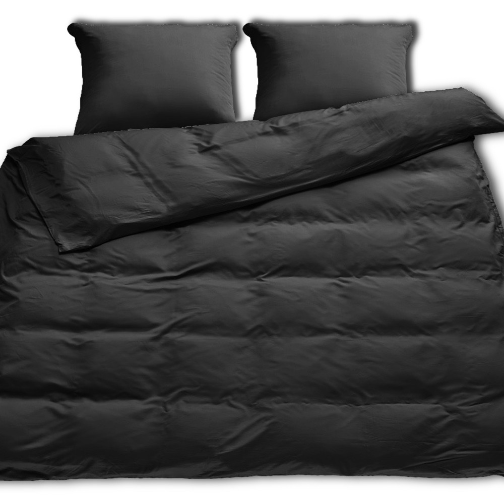 sort sengetøj Sopire bambus sengetøj til dobbeltdyne sort 200x220 sort sengetøj