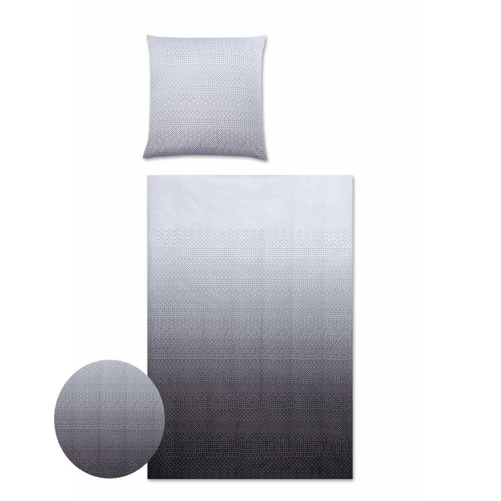 sengetøj Pixel Maco Satin sengetøj blå 140x220 køb her sengetøj