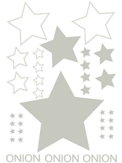 Printark - Stjerneprint, sølv