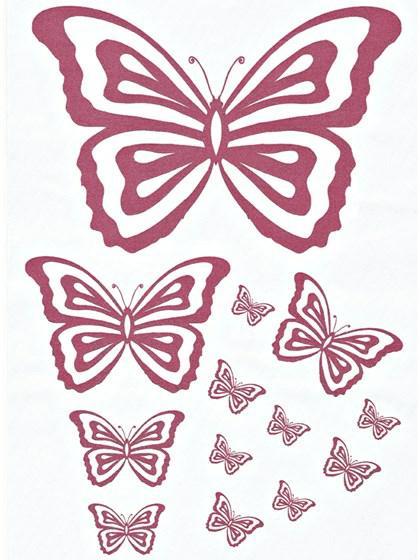 Printark - Sommerfugl, rosa
