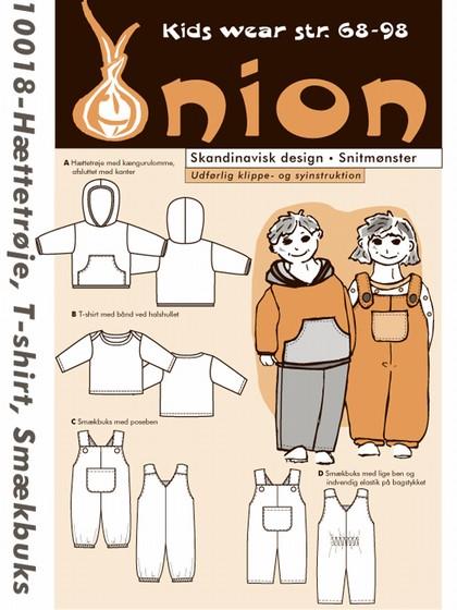 Snitmønster, Hættetrøje, T-shirt, smækbuks