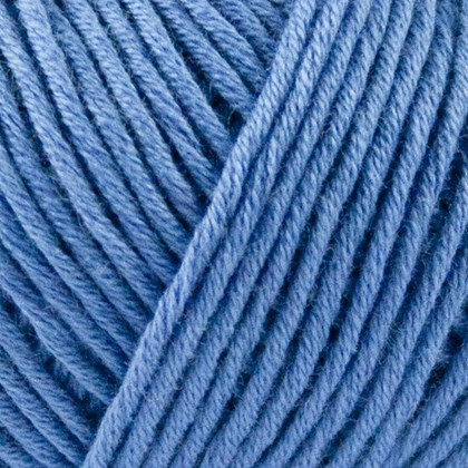 Organic Cotton, havblå