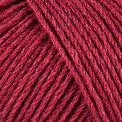 Organic Cotton+Nettles+Wool, vinrød