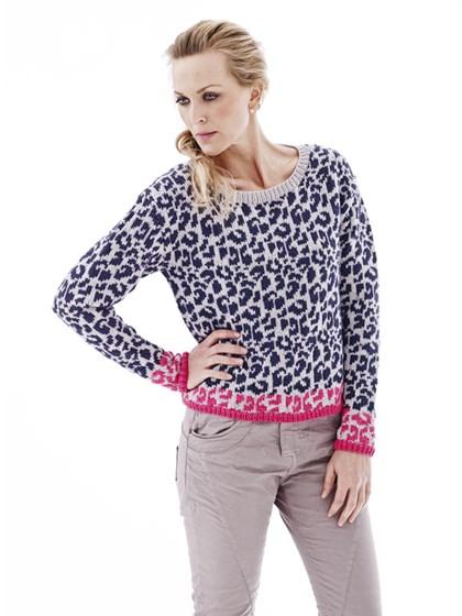 Bluse med leopardmønster