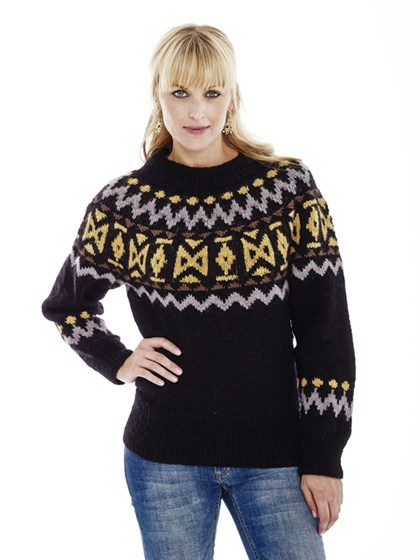 Sweater med rundt bærestykke