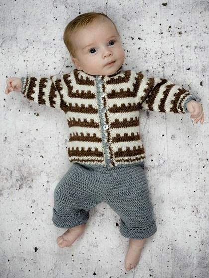 Mønstercardigan - til baby og børn