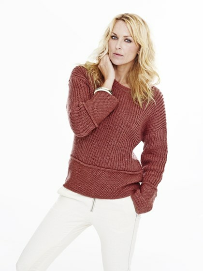 Sweater med strukturmønstre