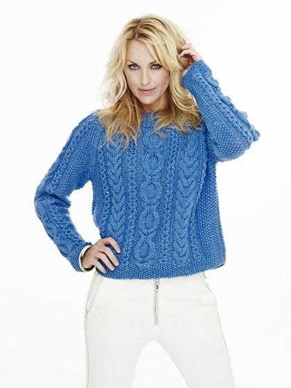 Sweater med irske snoninger