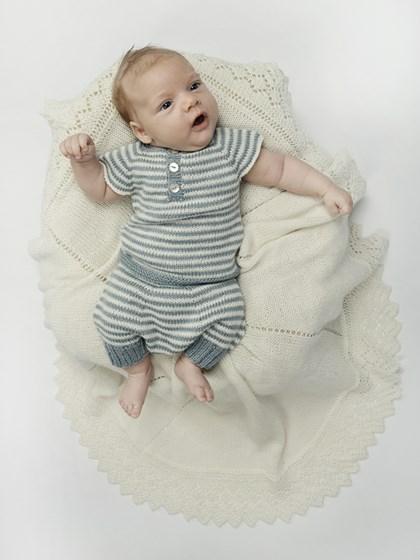 Stribet babyundertøj (baby)