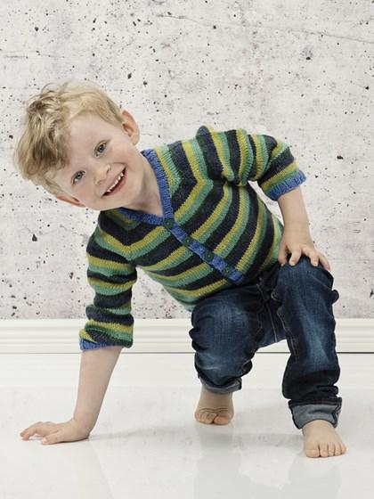 Drengecardigan med striber (børn)