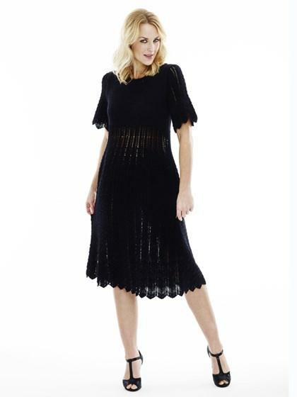 Kjole med zigzagmønster