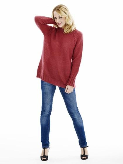 Raglansweater med snonings-indtagninger