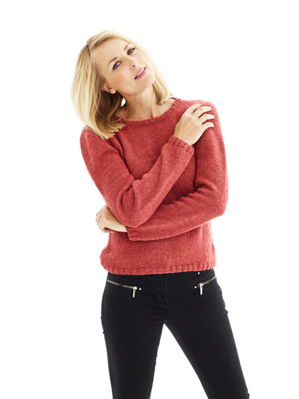 Sweater med V-hals eller rund hals