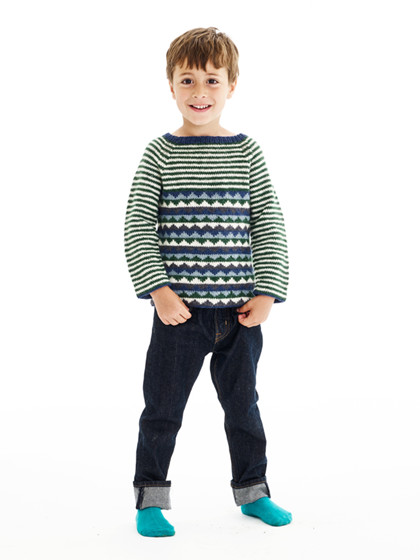 Drengesweater med trekantmønster (børn)