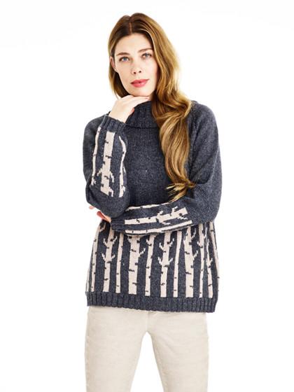 Sweater med birketræer
