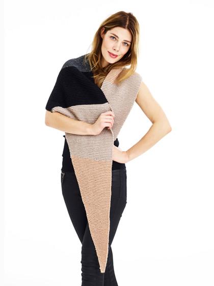 Tørklæde med brede striber
