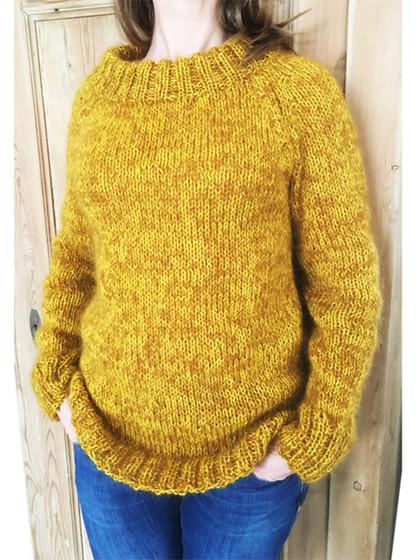 Mohair sweaters i dobbelt garn