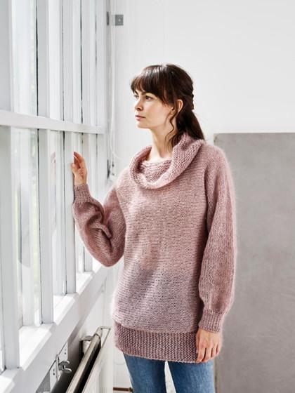 Simone - Trøje strikket på tværs