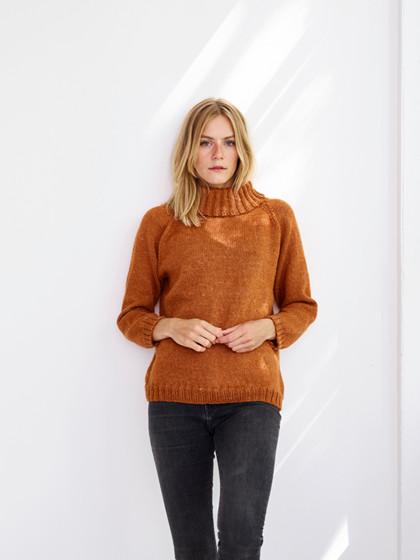 Anna - Sweater med krave
