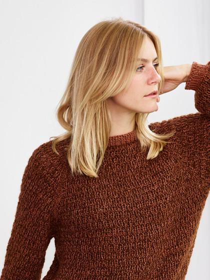 Berlin - Sweater med vaffelmønster-PDF