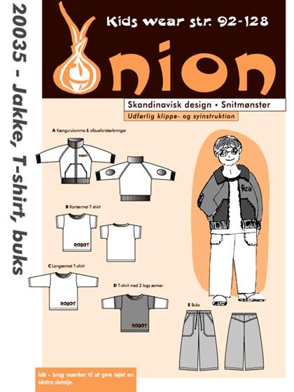 Snitmønster,  Jakke, T-shirt og buks
