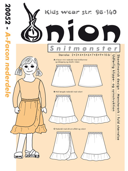 Snitmønster,  A-facon nederdele