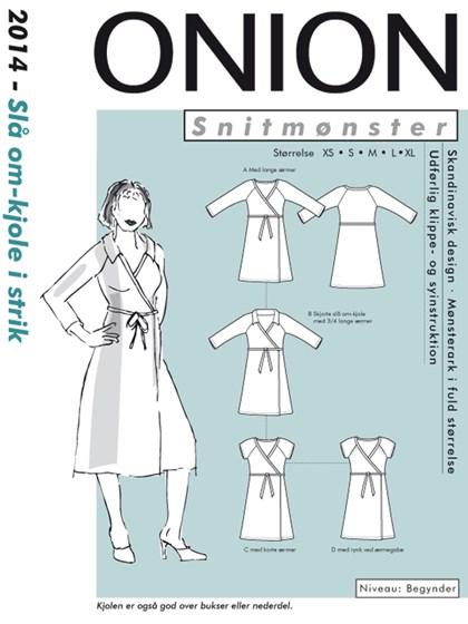 Snitmønster, Slå om-kjole i strik
