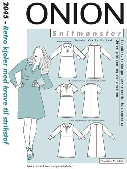 Snitmønster, Retro kjoler med krave til strikstof