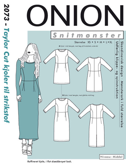 Snitmønster,  Taylor cut kjoler til strikstof