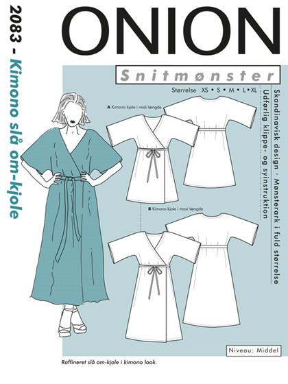Kimono slå om-kjole