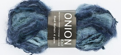 Dyed Mohair, blå