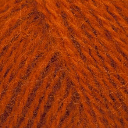 Mohair+Wool, brændt orange