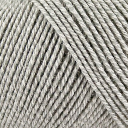 Fino Org. Cotton+Merino Wool, lys gråmeleret