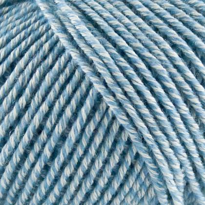 Fino Organic Cotton+Merino Wool, lys blåmeleret