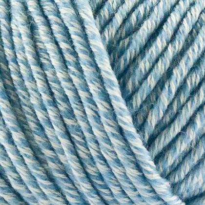Organic Cotton+Merino Wool, lys blåmeleret