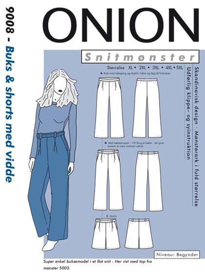 Snitmønster, Plus-størrelser, Buks & shorts med vidde til fast stof