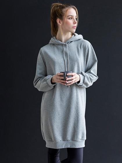 Snitmønster, Plus-størrelser, Sweat-shirt med hætte