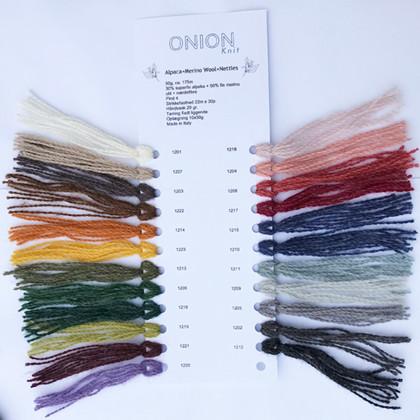 Farvekort, Alpaca+Merino wool+Nettles