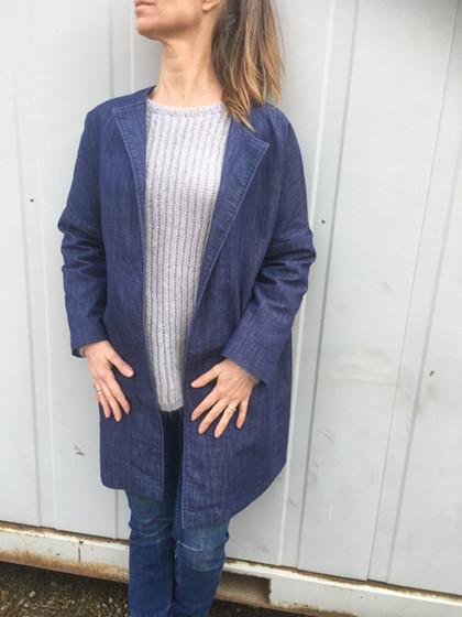 Super COOL jakke i jeans stof…….