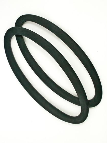 Ovale hanke, sort