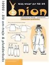 Snitmønster, Slå om-trøje & pludderbuks