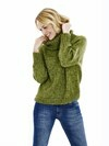 Sweater/Sweatervest med stor krave